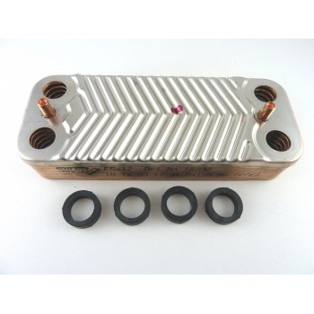 Glow Worm Compact 75E & 80E dhw plate heat exchanger S801194 supersedes 801194