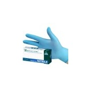 Bodyguards blue nitrile gloves powder free size Medium (box of 100) GL8902
